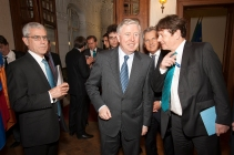 S.E. Ambassador Peter Gunning and Pat Cox, former President of the European Parliament