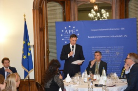 David McAllister, MEP and Chair of the Delegation for relations with the United States, and Herbert Dorfmann, MEP and President of the APE