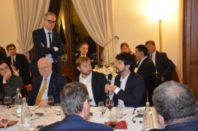 Daniel Köster, Spokesperson of the EPP Group in the European Parliament, Joachim Starbatty, MEP, and Brando Benifei, MEP and member of the APE