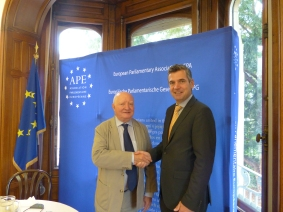 Jean-Paul Costa, Former President of the European Court of Human Rights, and Herbert Dorfmann, MEP and President of the APE