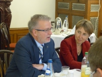 Michael Gahler and Anne Sander, MEPs and Vice Presidents of the APE