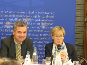 Herbert Dorfmann, MEP and President of the APE, and Mairead McGuinness, Vice President of the European Parliament