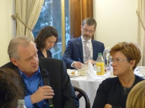 Peter Jahr and Angélique Delahaye, MEPs and members of the APE
