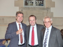 Herbert Dorfmann, MEP and President of the APE, Manfred Weber, MEP and Vice President of the APE, and Albert Dess, MEP and Treasurer of the APE