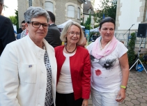 Gabriele Preuss, MEP and member of the APE, Evelyne Gebhardt, MEP and member of the APE, and Constanze Krehl, MEP