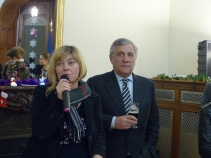 Isabella de Monte, MEP and Vice President of the APE, and Antiono Tajani, MEP