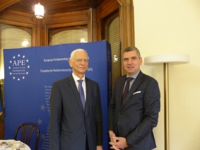 Wojciech Sawicki, Secretary General of the Parliamentary Assembly of the Council of Europe, and Herbert Dorfmann, MEP and President of the APE
