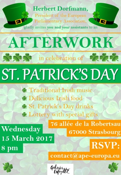 Wednesday 15 March 2017 - St. Patrick's Day Party
