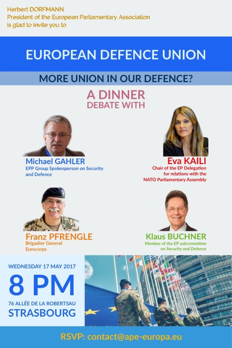 DINNER DEBATE - 17 May 2017 Strasbourg