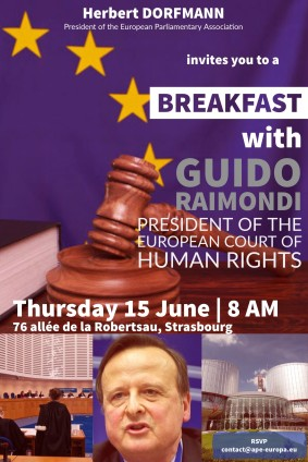 Thursday 15 June 2017 - Breakfast with Guido Raimondi, President of the ECHR