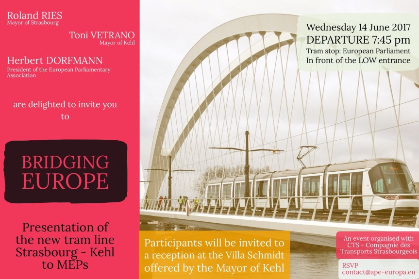 PRESENTATION of the new tram line Strasbourg - Kehl, 14 June 2017