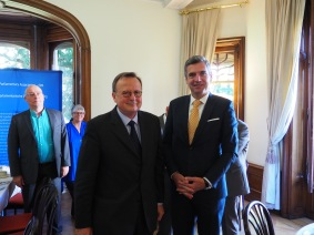 Guido Raimondi, President of the ECHR and Herbert Dorfmann, President of the APE