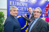 Antonio Tajani, President of the European Parliament, Herbert Dorfmann, MEP and President of the APE, and Roland Ries, Mayor of Strasbourg