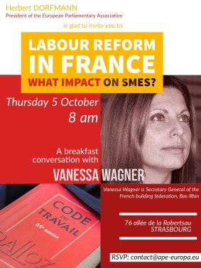 BREAKFAST Labour Reform in France. What impact on SMEs - Thursday 5 October 2017