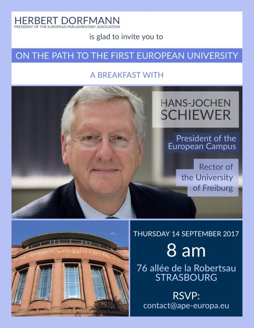 Breakfast with the President of the European Campus - 14 September 2017 8 am