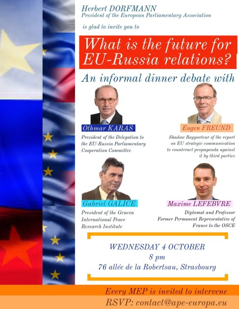 DINNER DEBATE What is the future for EU-Russia relations - 4 October 2017