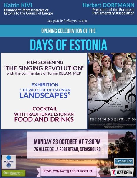 OPENING celebration Days of Estonia