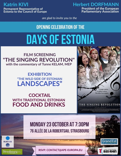 OPENING celebration Days of Estonia