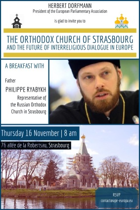BREAKFAST with Father Philippe, Thursday 16 November, 8 am