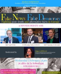 DINNER DEBATE Fake news, fake democracy - 7.02.18, 8 pm Strasbourg