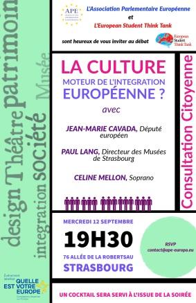 CONFERENCE-DEBAT La culture moteur de l'integration européenne