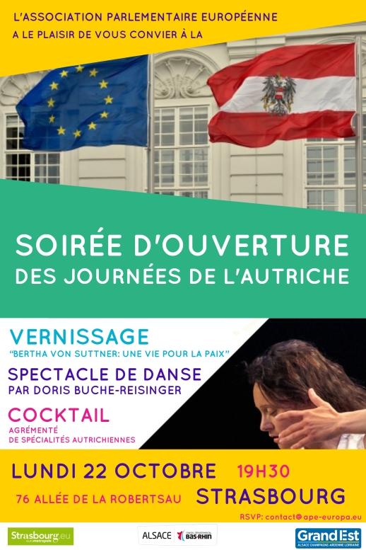SOIREE D'OUVERTURE Journées de l'Autriche lundi 22 octobre, 19h30